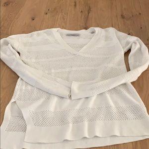 All saints white cutout sweater top size medium